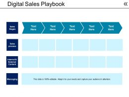 Digital Sales Playbook Example Of Ppt