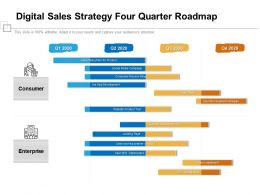 Digital Sales Strategy Four Quarter Roadmap
