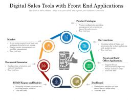 Digital Sales Tools With Front End Applications