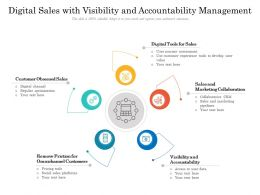 Digital Sales With Visibility And Accountability Management