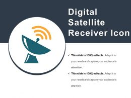 Digital Satellite Receiver Icon Example Of Ppt