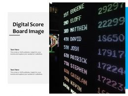 Digital Score Board Image