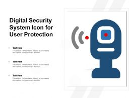 Digital Security System Icon For User Protection