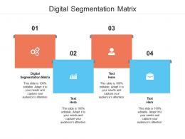 Digital Segmentation Matrix Ppt Powerpoint Presentation Pictures Templates Cpb