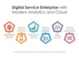 Digital Service Enterprise With Modern Analytics And Cloud