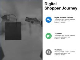 Digital Shopper Journey Ppt Powerpoint Presentation File Graphics Pictures Cpb