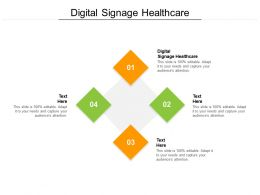 Digital Signage Healthcare Ppt Powerpoint Presentation Inspiration Shapes Cpb