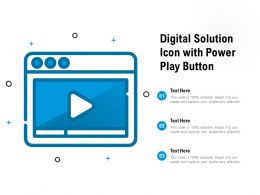 Digital Solution Icon With Power Play Button