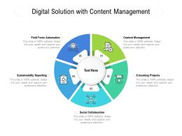Digital Solution With Content Management