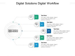 Digital Solutions Digital Workflow Ppt Powerpoint Presentation Infographic Template Designs Cpb