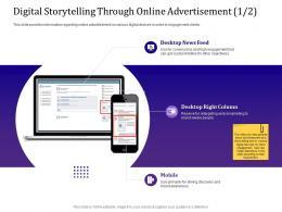 Digital Storytelling Through Online Advertisement 1 2 Remarketing Ppt Powerpoint Styles