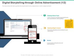 Digital Storytelling Through Online Advertisement Mobile Ppt Powerpoint Presentation Format