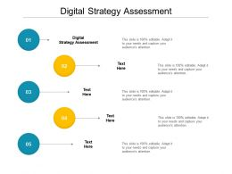 Digital Strategy Assessment Ppt Powerpoint Presentation Gallery Backgrounds Cpb
