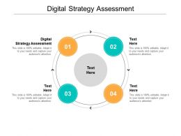 Digital Strategy Assessment Ppt Powerpoint Presentation Infographic Template Format Cpb