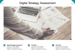 Digital Strategy Assessment Ppt Powerpoint Presentation Outline Infographic Template Cpb