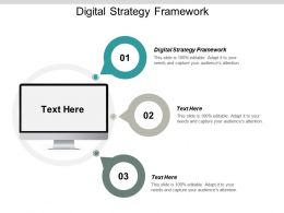 Digital Strategy Framework Ppt Powerpoint Presentation Gallery Background Designs Cpb