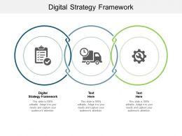 Digital Strategy Framework Ppt Powerpoint Presentation Portfolio Elements Cpb