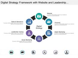 Digital Strategy Framework With Website And Leadership Casting