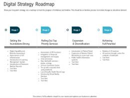 Digital Strategy Roadmap Digital Healthcare Planning And Strategy Ppt Professional