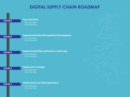 Digital Supply Chain Roadmap Ppt Powerpoint Presentation Ideas Influencers