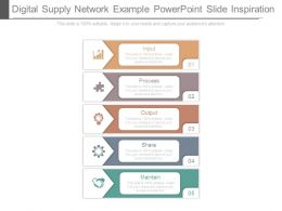 Digital Supply Network Example Powerpoint Slide Inspiration