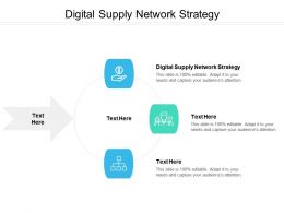 Digital Supply Network Strategy Ppt Powerpoint Presentation Gallery Demonstration Cpb