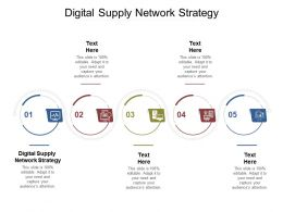 Digital Supply Network Strategy Ppt Powerpoint Presentation Show Template Cpb
