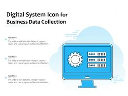 Digital System Icon For Business Data Collection