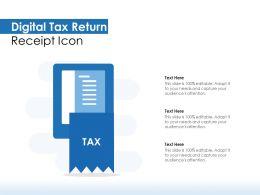 Digital Tax Return Receipt Icon