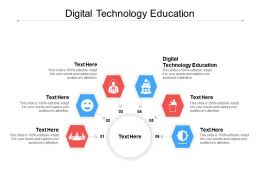 Digital Technology Education Ppt Powerpoint Presentation Icon Examples Cpb