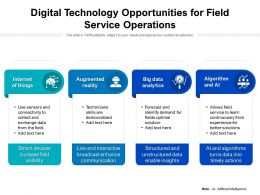 Digital Technology Opportunities For Field Service Operations