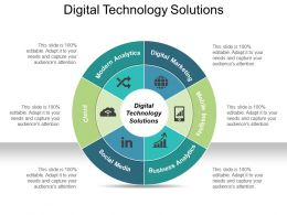 Digital Technology Solutions Ppt Design Templates