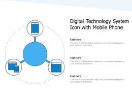 Digital Technology System Icon With Mobile Phone