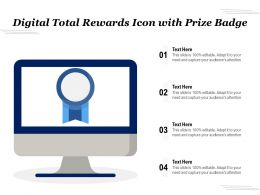 Digital Total Rewards Icon With Prize Badge