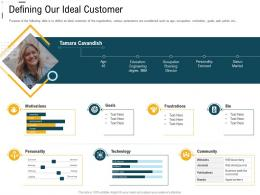 Digital Trade Advertisement Defining Our Ideal Customer Ppt Powerpoint Download