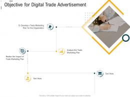 Digital Trade Advertisement Objective For Digital Trade Advertisement Ppt Professional