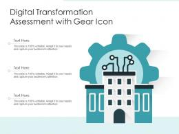 Digital Transformation Assessment With Gear Icon