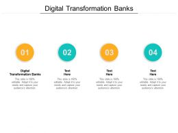 Digital Transformation Banks Ppt Powerpoint Presentation Show Templates Cpb