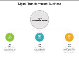 Digital Transformation Business Ppt Powerpoint Presentation File Slideshow Cpb