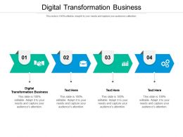 Digital Transformation Business Ppt Powerpoint Presentation Professional Templates Cpb