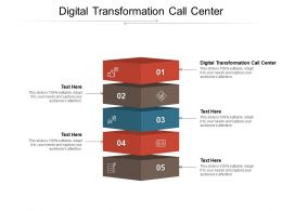 Digital Transformation Call Center Ppt Powerpoint Presentation Infographics Demonstration Cpb