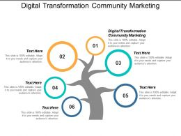 Digital Transformation Community Marketing Ppt Powerpoint Presentation File Example Cpb