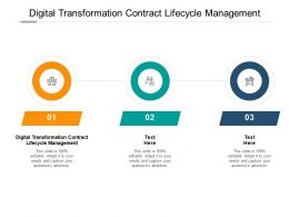 Digital Transformation Contract Lifecycle Management Ppt Powerpoint Inspiration Cpb