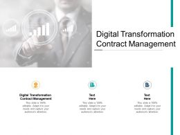 Digital Transformation Contract Management Ppt Powerpoint Presentation Summary Cpb