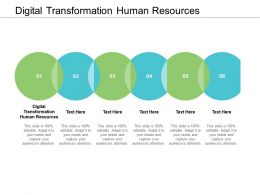 Digital Transformation Human Resources Ppt Powerpoint Presentation Pictures Outline Cpb