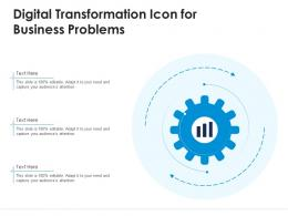 Digital Transformation Icon For Business Problems