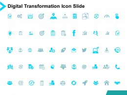 Digital Transformation Icon Slide Growth Strategy Powerpoint Presentation Slides