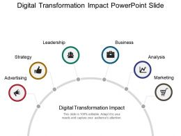 Digital Transformation Impact Powerpoint Slide