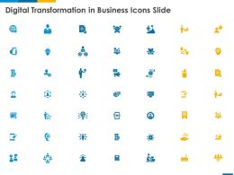 Digital Transformation In Business Icons Slide Ppt Powerpoint Presentation Ideas Slides