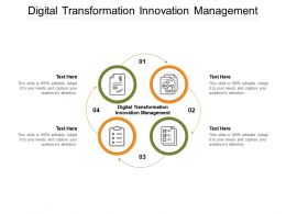 Digital Transformation Innovation Management Ppt Powerpoint Presentation Infographic Template Deck Cpb